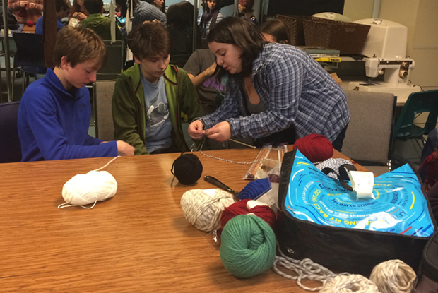 Knitting Club Has Community in Stitches - The Pigeon Press Northwest Academy